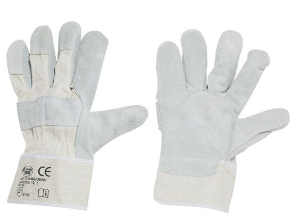 stronghand® Rindspaltleder-Handschuhe Mamba Gr. 10,5