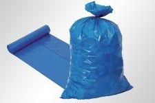 Müllsäcke LDPE blau Typ 100  EXTRA 500+450 x 1250 mm