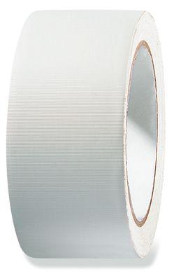 Weich PVC Klebeband weiß quergerillt 50 mm x  33 lfm