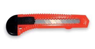 Cutter Messer rot/schwarz mit 18 mm Abbrechklingen