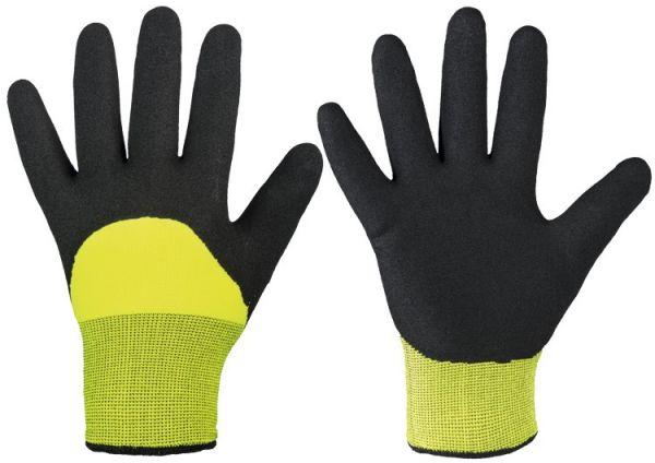 Mallory Black Strick-Handschuhe  0249  3/4 Nitril gesandet. Gr. 8