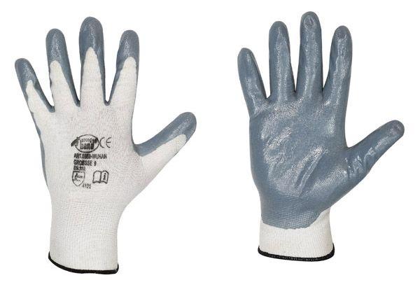 Wuhan  Nylon/Nitril-Handschuhe 0 578  Gr. 8