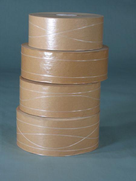 Naßklebeband braun 50 mm x 200 lfm mit Hülse 70 mm
