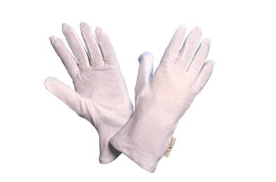 Baumwoll Interlock Schutzhandschuh weiß, schwer Gr. 10