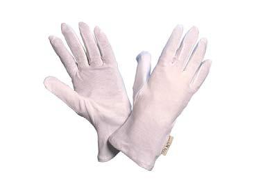 Baumwoll Interlock Schutzhandschuh weiß, schwer Gr. 8