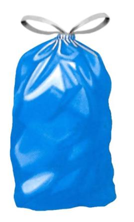 Abfall-Müllsäcke LDPE regen. opak blau 240 l, 650/550 x 1350 mm Typ 80