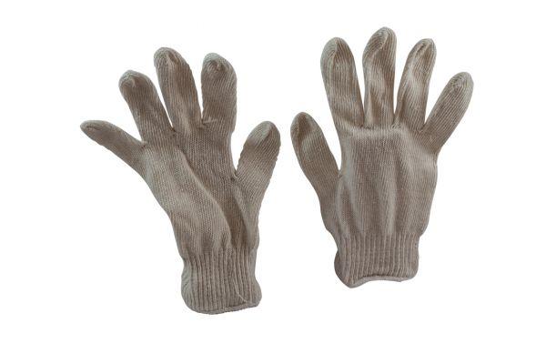 Baumwoll Jersey Handschuh   Gr. 10 beige HansaTEC  580-M