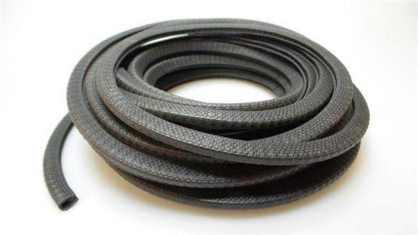 Kantenschutzprofil mit Metalleinlage schwarz Klemmbereich 1-2 mm