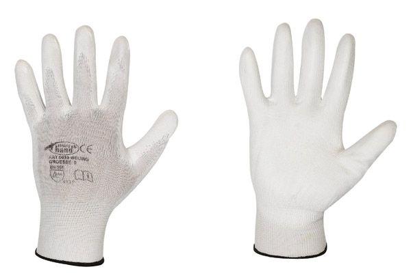 Beijing Classic 100% Nylon weiß, Polyurethanbesch. Gr. 9  schwarz