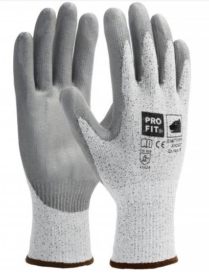 PU-Schnittschutzhandschuh Gr. 9 Level 5 mit HPPE-Faser, schwarz