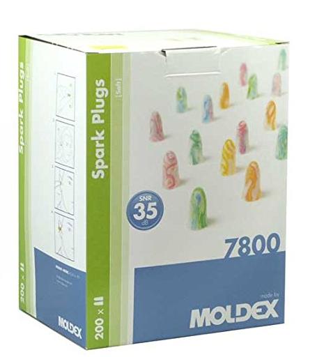 Spark Plugs Soft (7800) von Moldex - Gehörschutz mit SNR 35dB - 200 Paar