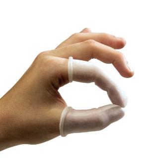 Sander Fingerlinge 0,3 mm dick, weiß