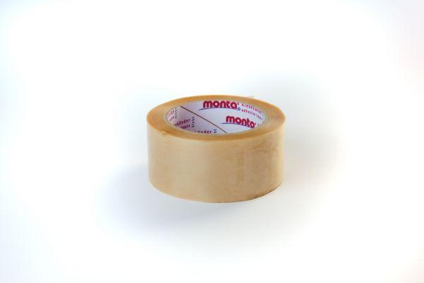 PVC-Verpackungsband transp. geprägte Folie 50/66  Monta 201