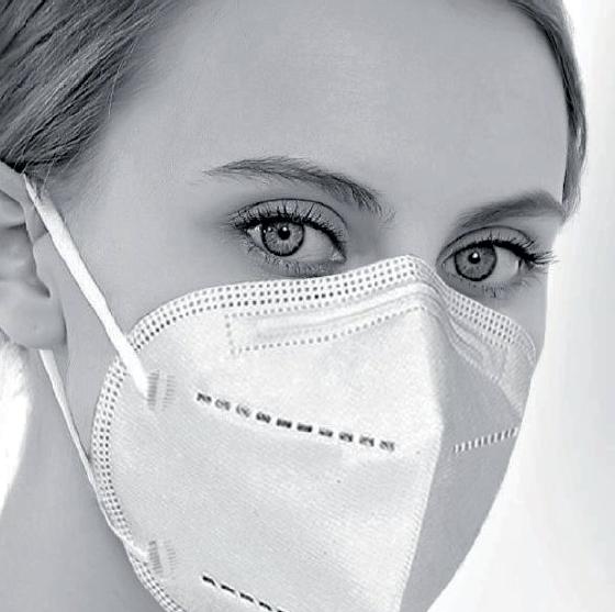 Mundschutz-Maske FFP2 NR, 4-lagig ohne Ventil