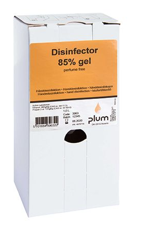 Disinfector 85%. Desinfektionsgel bag-in-box 1000 ml PE-Beutel 3963