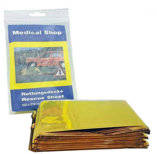 Medical Shop  Rettungsdecke Gold/silber, 160 x 210 cm