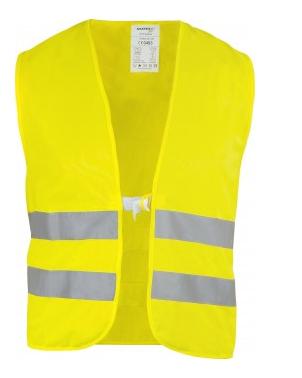 Warnweste neon-gelb Polyester EN ISO 20471 Klas