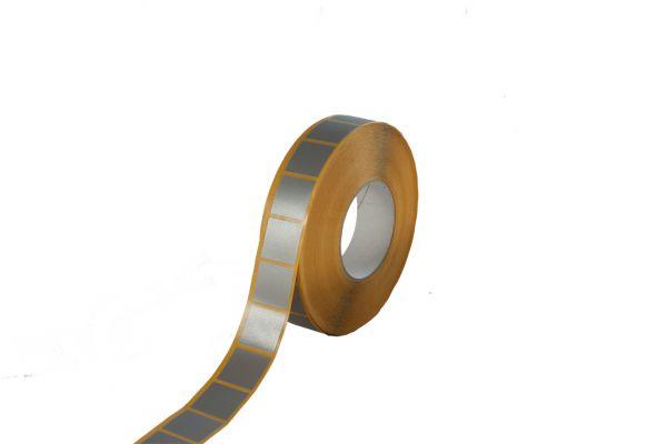 Gewebeband Stanzteil grau 30 x 30 mm