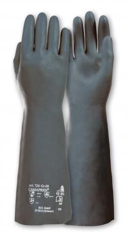Camapren 726 Gr. 8 Schwarzer Chloropren-Naturlatex-Handschuh