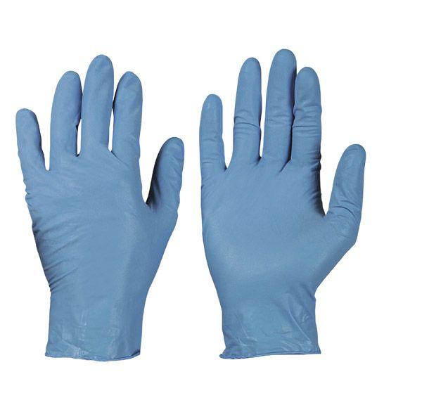 Nitril Einweghandschuh blau puderfrei  Gr. 8